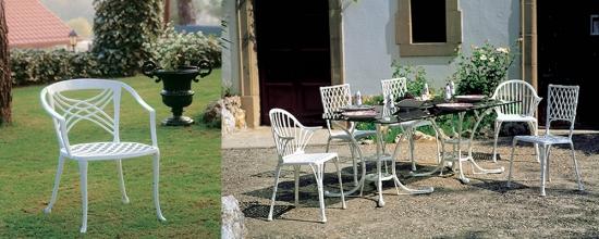 Dise o de muebles de aluminio fundido sillas y mesas de forja for Aluminio productos de fundicion muebles de jardin